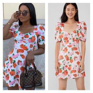 ZARA new. Floral print mini dress